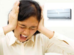 máy lạnh bị tiếng ồn